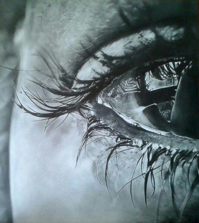 Eye study - art by MaryAlice Graphite on paper 40x45 cm
