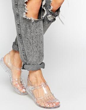 Enlarge Truffle Jelly Flat Sandals