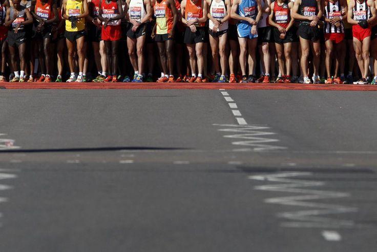 Maratón de Londres  Línea de salida del maratón de Londres.  STEFAN WERMUTH (REUTERS)