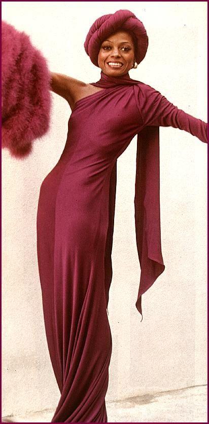 Diana Ross (in Bob Mackie) in Mahogany (1975).