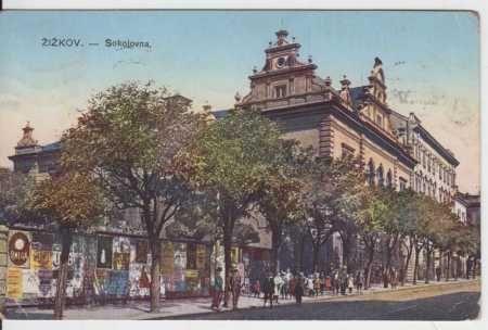 Praha 3 - Žižkov, sokolovna, kolorovaná (6747882246) - Aukro - největší obchodní portál