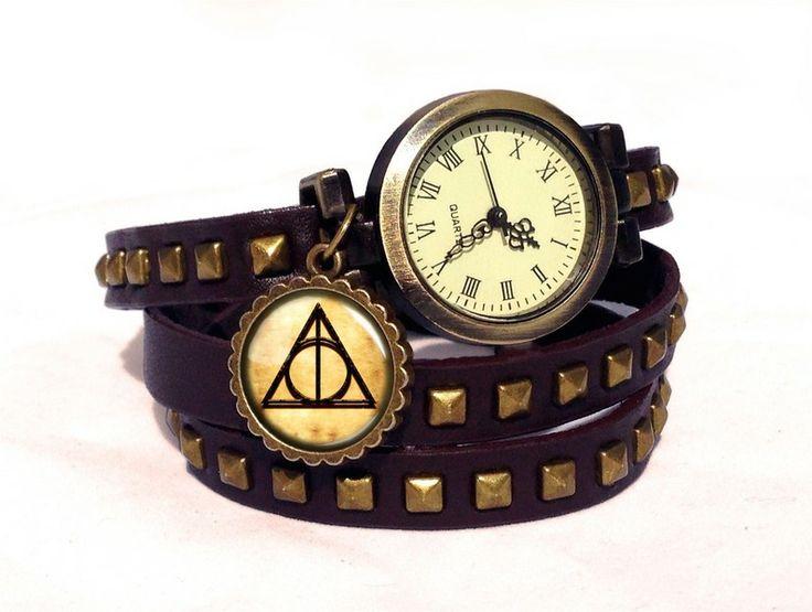 Leather watch bracelet - Harry Potter, 0357WBBC from EgginEgg by DaWanda.com
