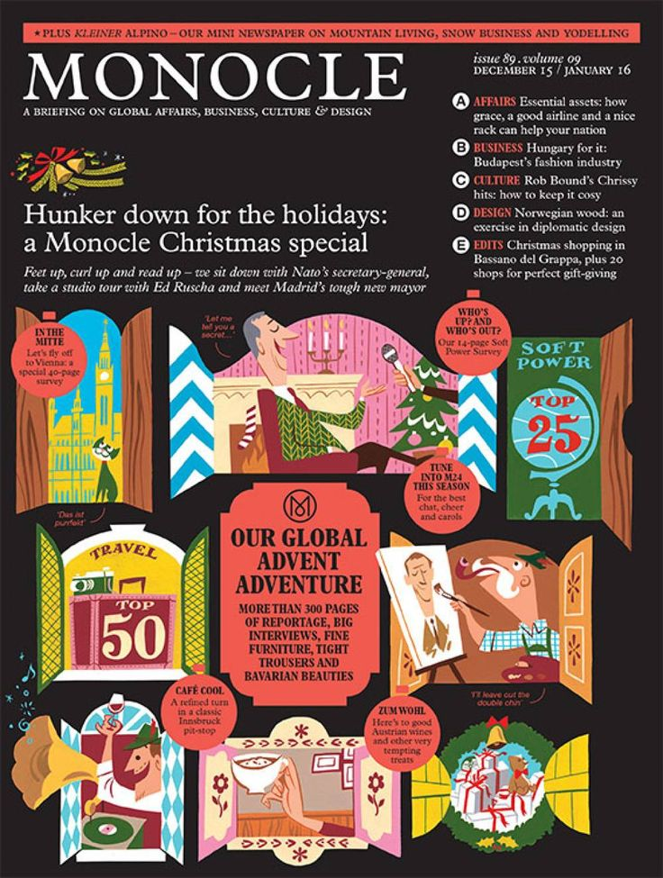 A preview of the latest issue of Monocle magazine, plus archives of features on current affairs, business, culture and design.