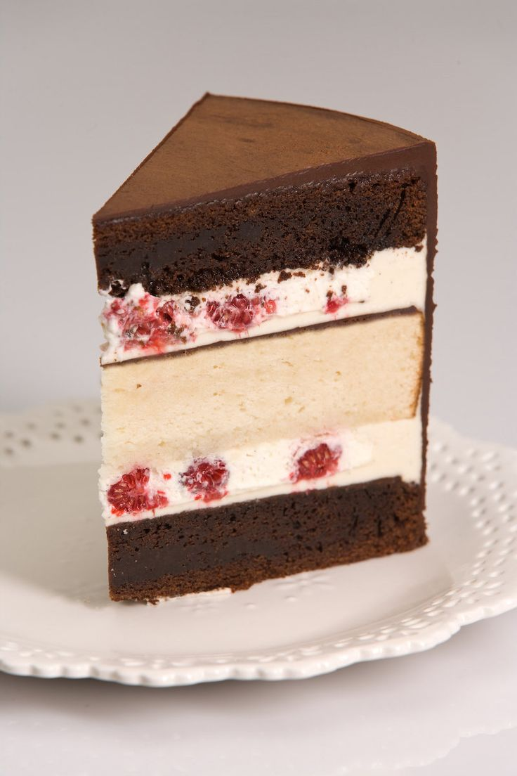 Slice Of Wedding Cake | Alternating Layers Of Dark Chocolate Cake Vanilla  Bean Cake Sandwiched .
