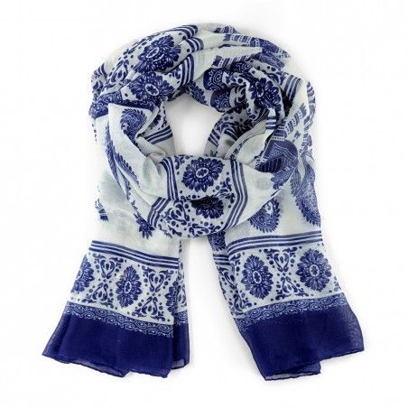 Women's Polyester Elephant Paisley Print Scarf by Sole Society