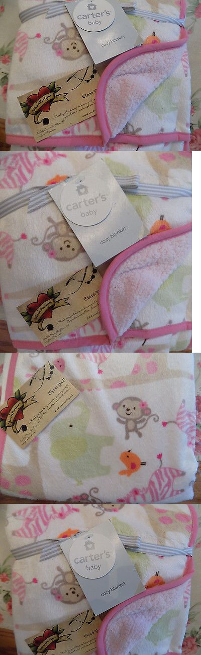 Blankets and Throws 3081: Carters Baby Blanket Pink Zebra Safari Jungle Animals Velour Girl Sherpa Lining -> BUY IT NOW ONLY: $38.99 on eBay!