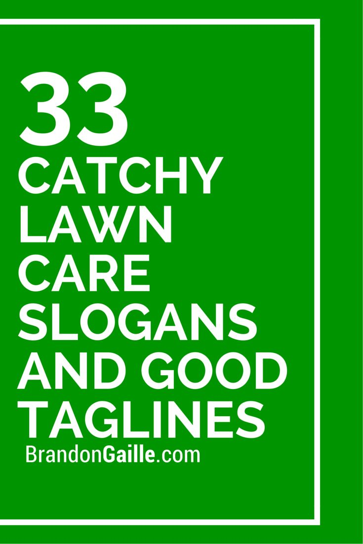 35 catchy lawn care slogans and good taglines green