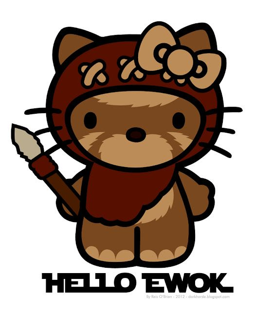 Hello Ewok: Nerd, Stuff, Halloween Costumes, Stars War, Hello Putty, Hello Ewok, A Tattoo, Hello Kitty, Starwars