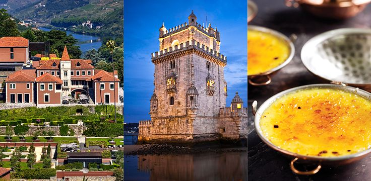 From left: Courtesy Six Senses Douro Valley; Belem, Courtesy Lisbon Tourism Board; Jose Avillez, Courtesy Nuno Correia