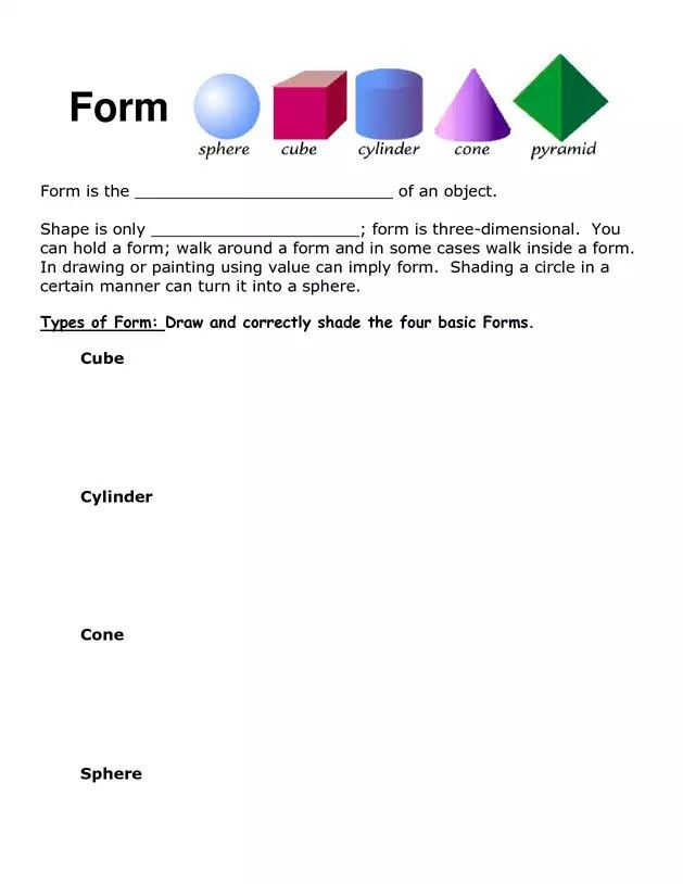 Form And Value In Art : Best art elements forms value shading images on