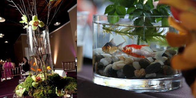 peceras decoradas con peces para bodas - Buscar con Google
