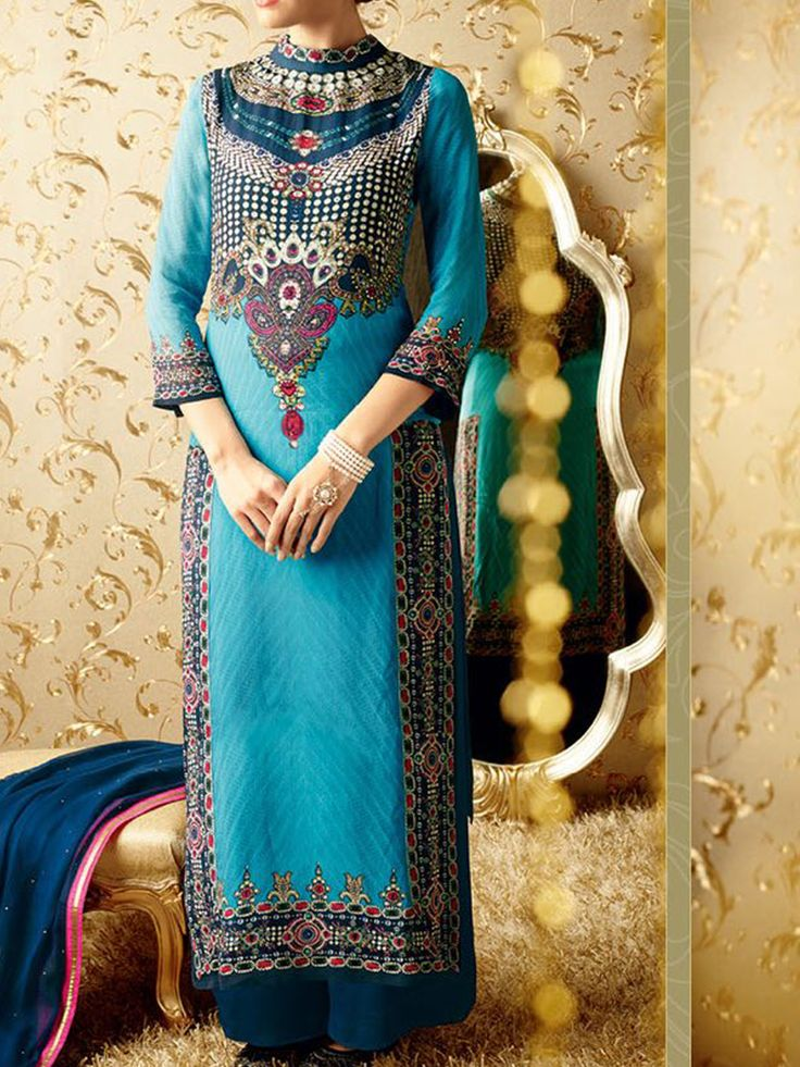 Discover the bridal aura Georgette straight style suit features digital print with swarovski embellishment.colour sky blue - See more at: http://www.akalors.in/New-Arrivals/Beautiful-Sky-Blue-Faux-Georgette-Suit-id-1889090.html#sthash.mMuiXBGN.dpuf