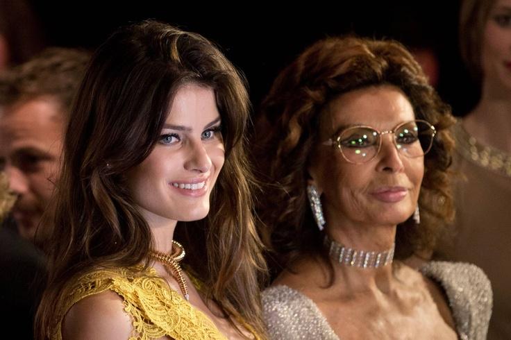 Isabeli Fontana and Sophia Loren @ the Pirelli Calendar Launch Party in Rio de Janeiro