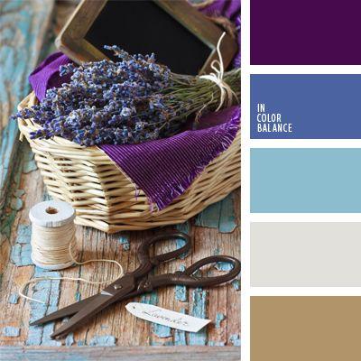 azul claro, azul oscuro, azul turquí, color lavanda, color púrpura, color púrpura vivo, colores estilo provenzal, colores provenzales, de color plata, de color violeta, elección del color, marrón, marrón y azul claro, plateado, tonos celestes.
