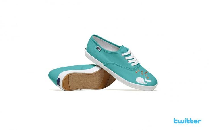 Social media shoes ! Twitter version.