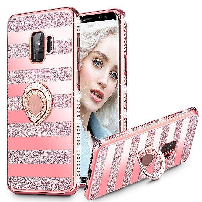 Girls Case Shiny Glitter Bling Mirror