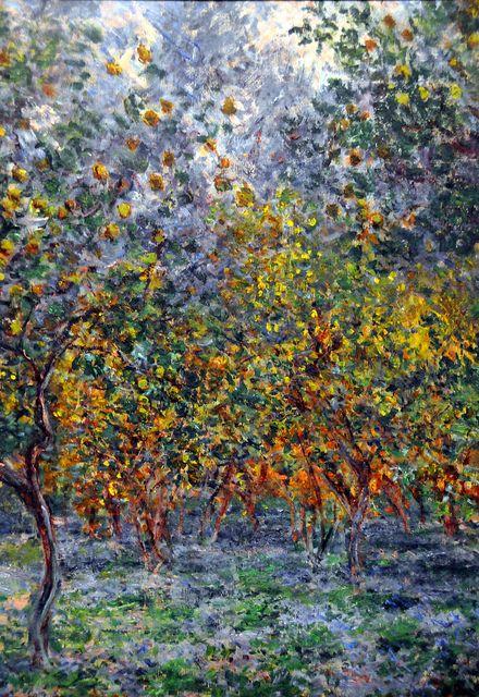 Claude Monet - The Lemon Grove in Bordighera at Ny Carlsberg Glyptotek Copenhagen by mbell1975, via Flickr