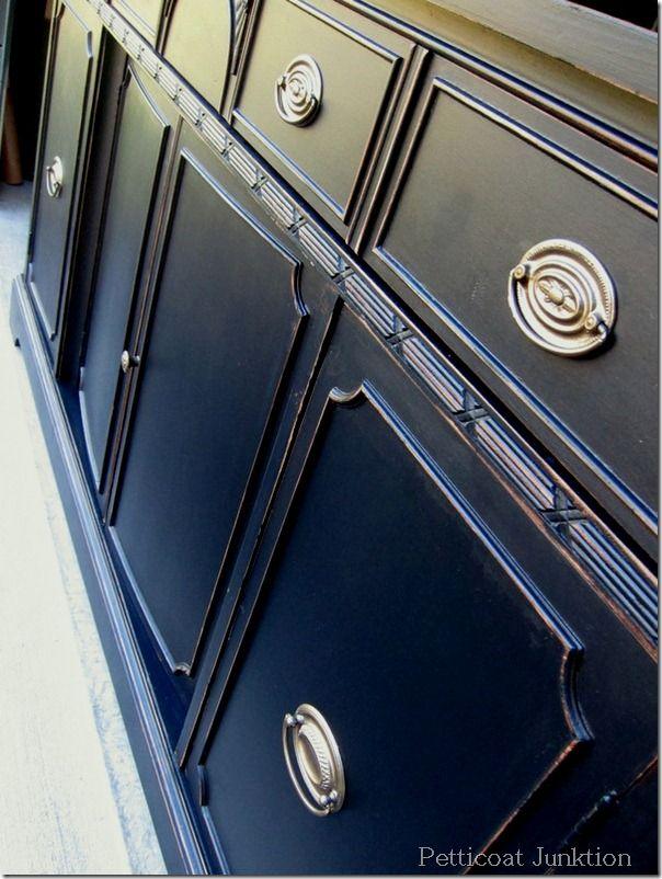 Best + Black painted furniture ideas on Pinterest  Black