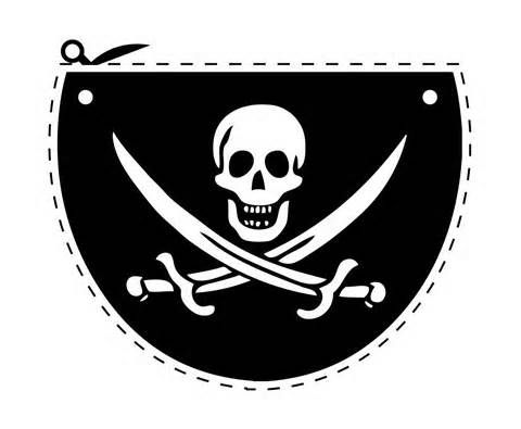 pirate eye patch template - Use skull die form Big shot machine