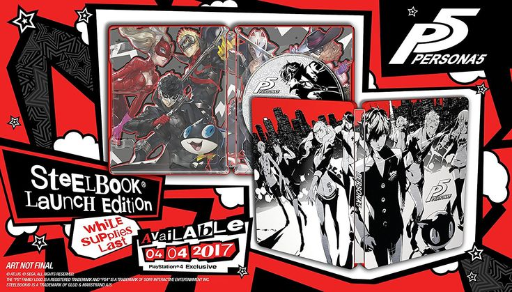 Amazon.com: Persona 5 - SteelBook Edition - PlayStation 4: Persona 5: Video Games