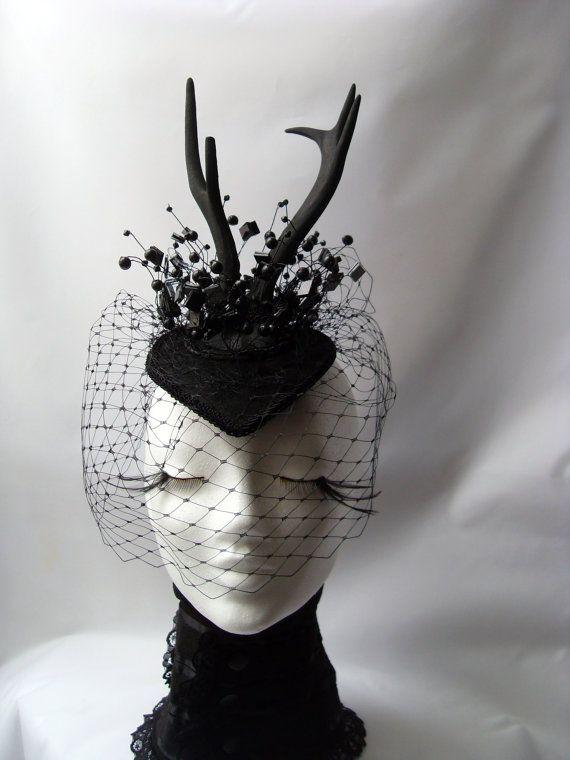 Horns crowns Fantasy Gothic WGT headdress by KopfTraeume on Etsy