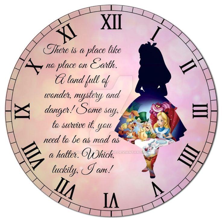 Alice in Wonderland Clock by SilhouettesbyMarie.deviantart.com on @DeviantArt