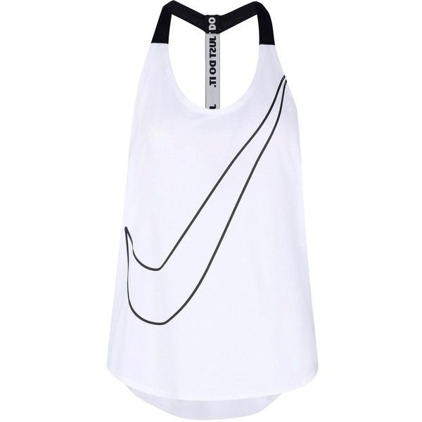 Nike Top (715 MXN) ❤ liked on Polyvore featuring activewear, white, nike sportswear, nike, nike activewear and logo sportswear