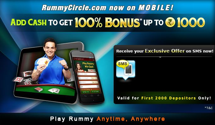 Play rummycircle app on your mobiles Now.