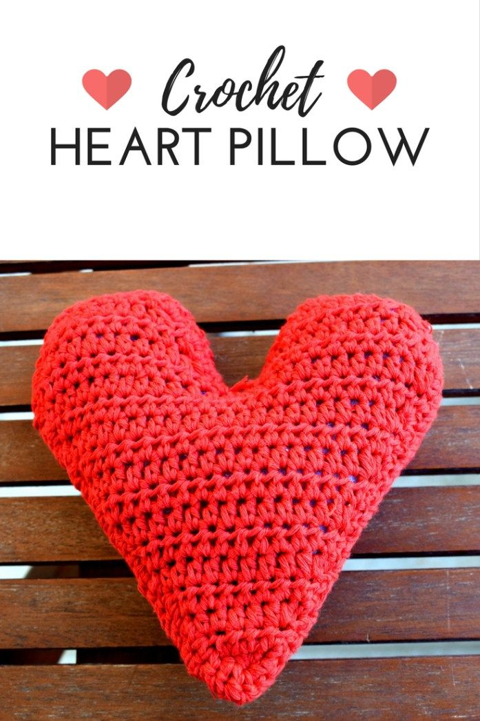 CROCHET HEART PILLOW | VALENTINE'S DAY GIFT IDEA | made by demi