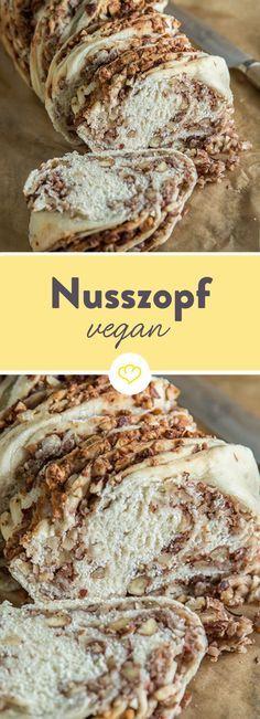 Veganer Nusszopf – ohne Milch, mit viel Nuss