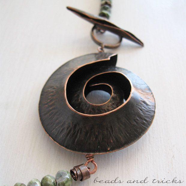 Un'ammonite di rame   Handmade by Beads and Tricks