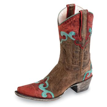 Old West Bottes Western Little Rider Marron Taille 25 x9Opa