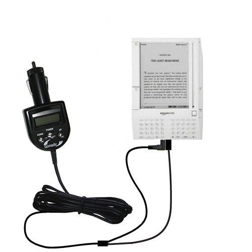 Unique Gomadic FM Transmitter with an integrated DC Auto Charger designed for the Amazon Kindle (1st Generation) Transmitters emit a powerful FM signal that is the maximum allowed by FCC regulation. Advanced signal isolation provides crystal clear sound quality.. Full FM frequency spectrum is available and is user selectable in 0.1MHz increments from 88.1 to 107.9 MHz. Advanced Digital PLL sound c... #Gomadic #DigitalDeviceAccessory