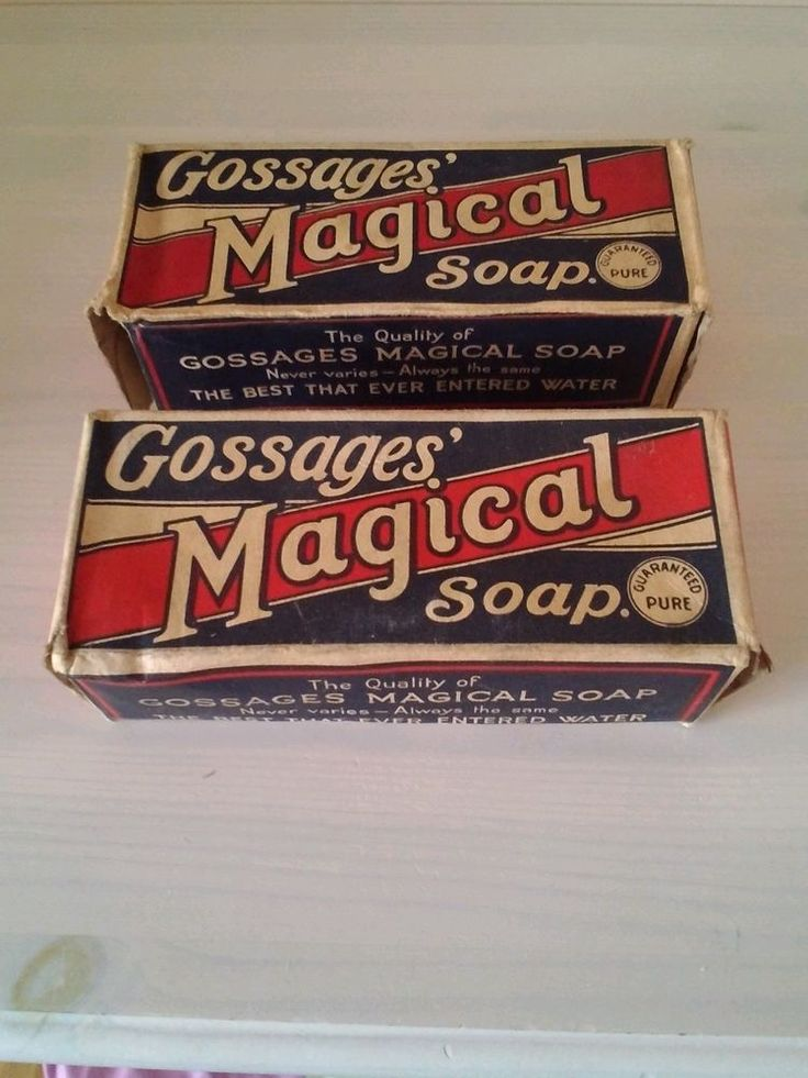 Vintage Gossages Magical Soap in original unopened boxes
