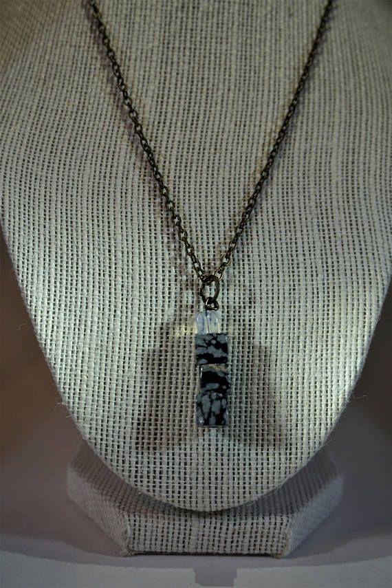 Bronze snowflake obsidian necklace, stone, pendant, jewelry https://www.etsy.com/ca/listing/484103629/snowflake-obsidian-necklace