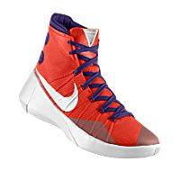 I designed the orange Evansville Purple Aces Nike men's basketball shoe  with purple and white trim
