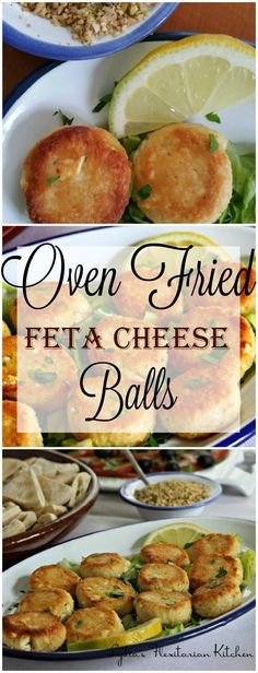 Oven Fried Feta Cheese Balls ~ Food of the World: Egypt ~ #FOTW ~ Lydia's Flexitarian Kitchen