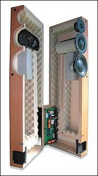 Small speakers using transmission line techniques.