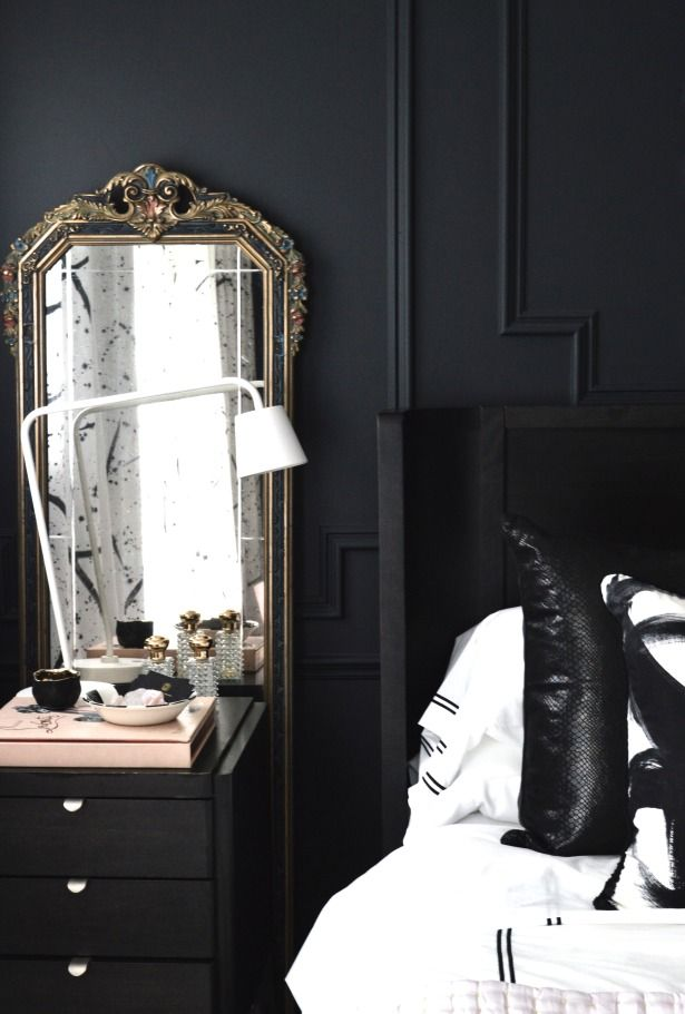 christine dovey style master bedroom lg mirror behind nightstand ...