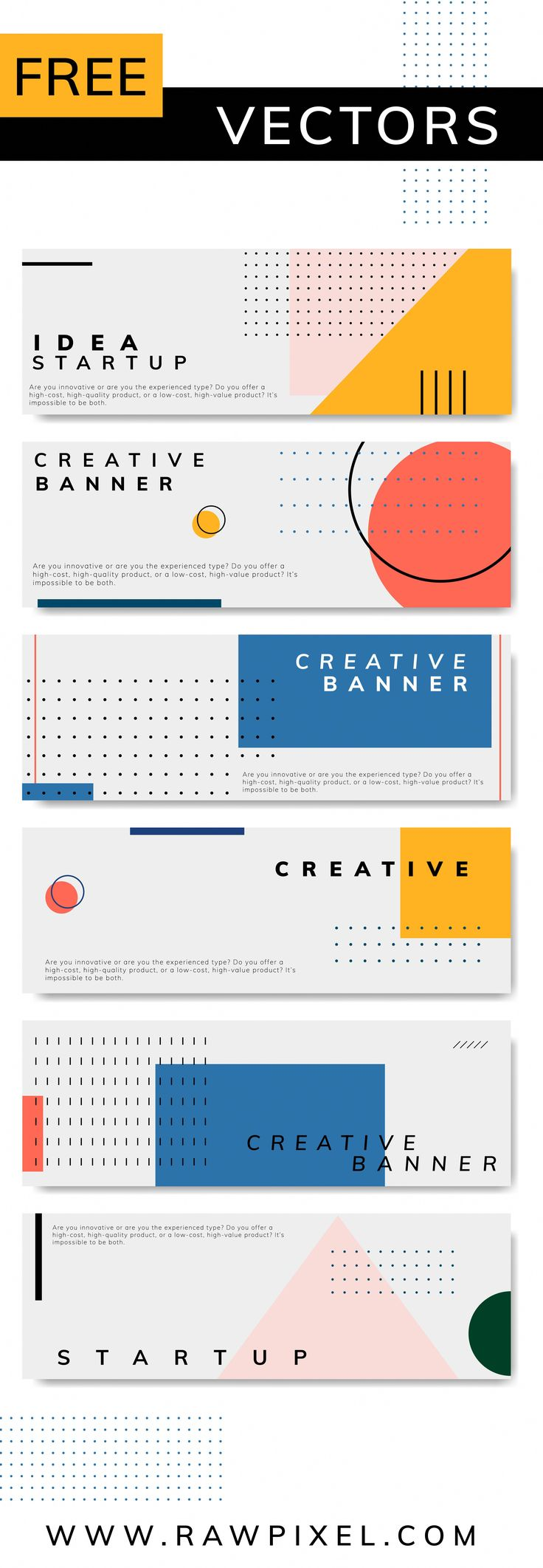 Download this cool set of Memphis design vector layouts, templates, posters, banners and many more mockups, vectors, illustrations, stock photos at ra…