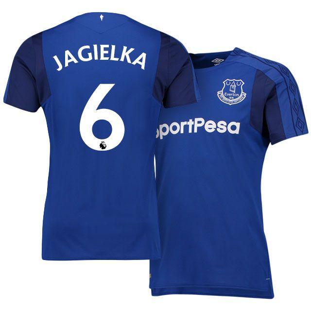 17-18 Everton Shirt Kit phil jagielka Home Top