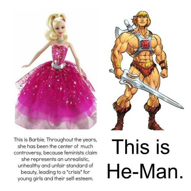 As long as double standards exist there is no equality. I have much more a problem with that then a f***ing DOLL