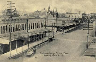 Taylor, TX (old photo) - Taylor had several prosperous periods, sponsored in a large part by the cattle and cotton industries. One theater/candy shop owner invented a sauerkraut-flavored candy that was popular with locals, but failed to catch on nationally. The secret of his success was having two long rows of candy cabinets on either side of the theater's recessed entry. Moviegoers would be forced to run the tempting gauntlet, and passersby could buy even if they didn't want to see the…
