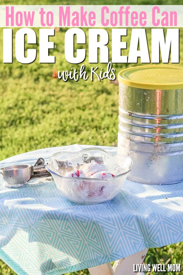 Looking for a different kind of activity for your kids? Try this easy coffee can ice cream! It's simple to make and children will love making their own homemade ice cream as they shake and kick the coffee can! Get the easy recipe here: