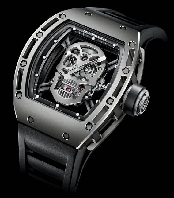 Tourbillion RM 052 Skull. A skull on a watch can be the most cheesy thing when done wrong or just slapped onto the dial – well, see how it can be done right here.Fashion, Mills Rm, Style, Richard Mille, Rm 052, Skull Watches, Rm052, Richard Mills, Tourbillon Skull
