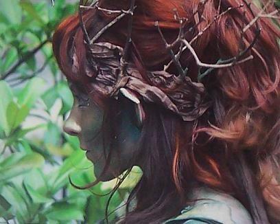 Half orc, half elf? ---Lessien. Elvish name meaning Disgrace.