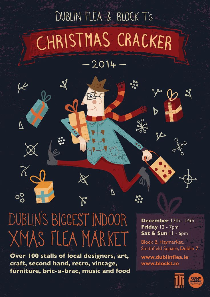 Dublin Flea Market - Christmas Poster on Behance