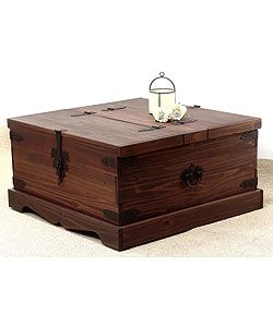 @Overstock   Inspired By Classic Rustic Styles, This Santa Fe Mahogany Trunk  Coffee Table