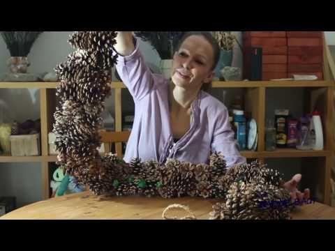 Weihnachtsdeko - Lichterkette aus Tannenzapfen - DIY - YouTube