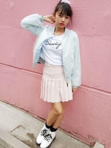 スポーティーだけどガーリーなスタイル♡ ◇高校生ファッション スタイルのコーデ アイデア◇